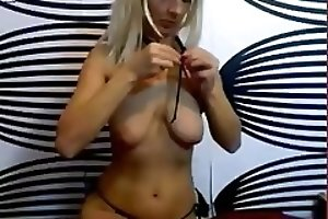 Pretty blonde babe pooping webcam chat