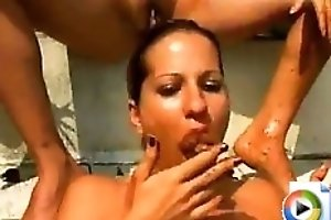 Nude scat orgy with sluts from Brazil
