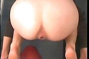 Curvy brunette student shits a huge load