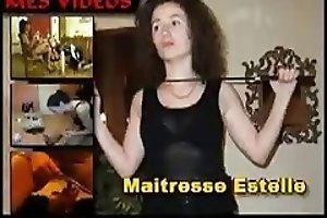 Femdom Scat French Mistress feeds her slave