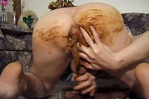 Bastard has golden shower on his gross hand